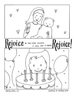Rejoice In The Lord Coloring Page Philippians 4 4 Toddler