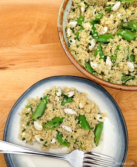 Whole Grain Quinoa Salad with Sugar Snap Peas