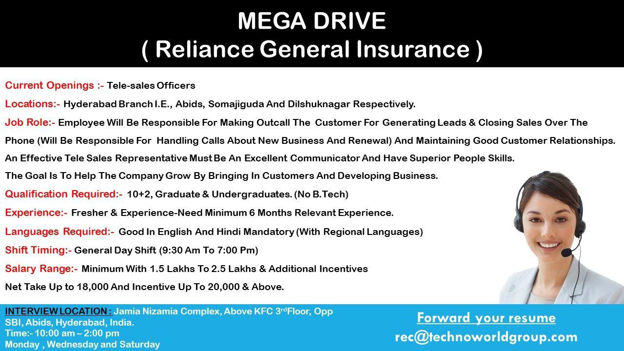 Megadrive Reliancegeneralinsurance Current Openings