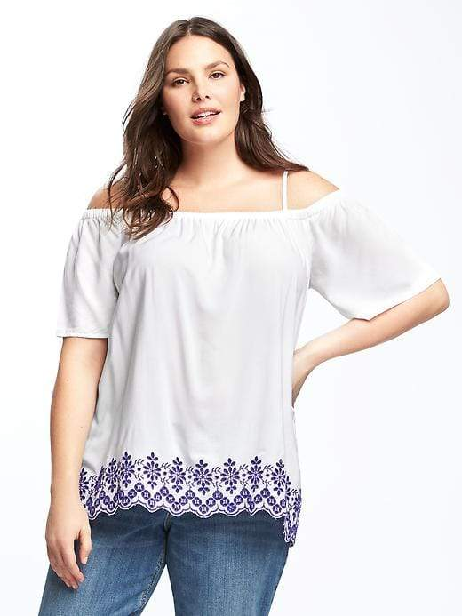 b25c6414f98c Old Navy Plus-Size Off-the-Shoulder Swing Blouse   Products