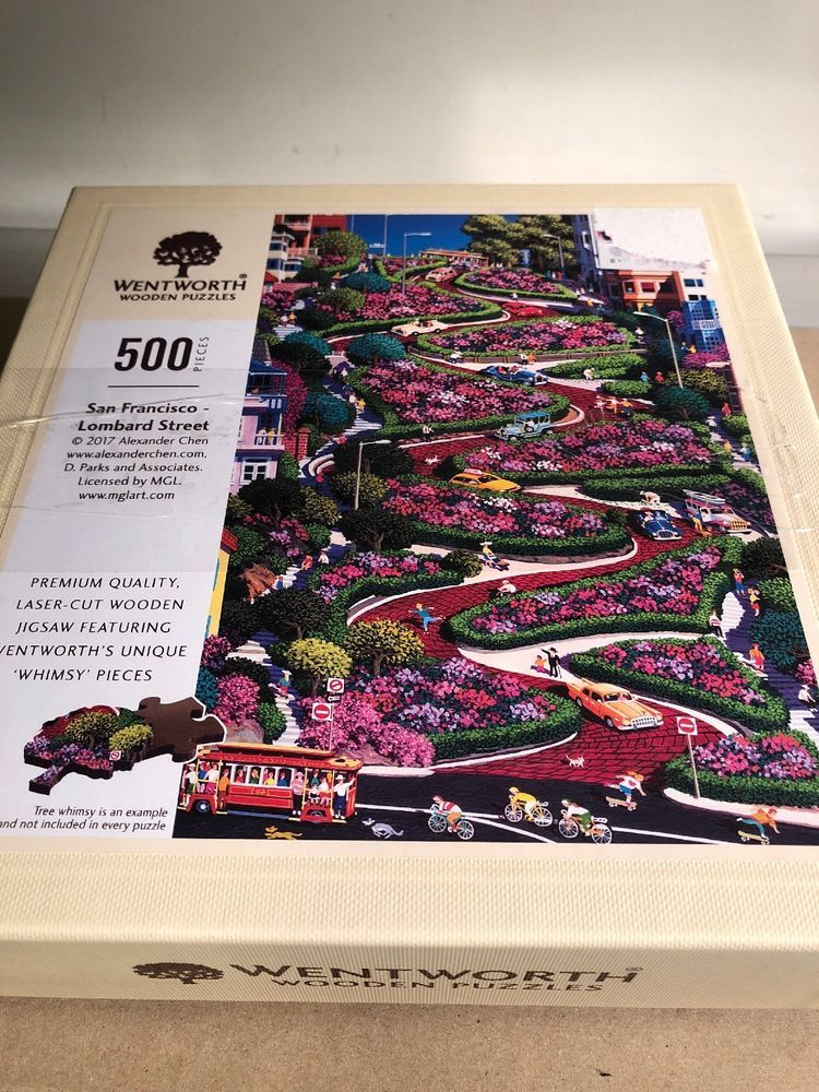 Wentworth Wooden Jigsaw Puzzle San Francisco Lombard Street 500
