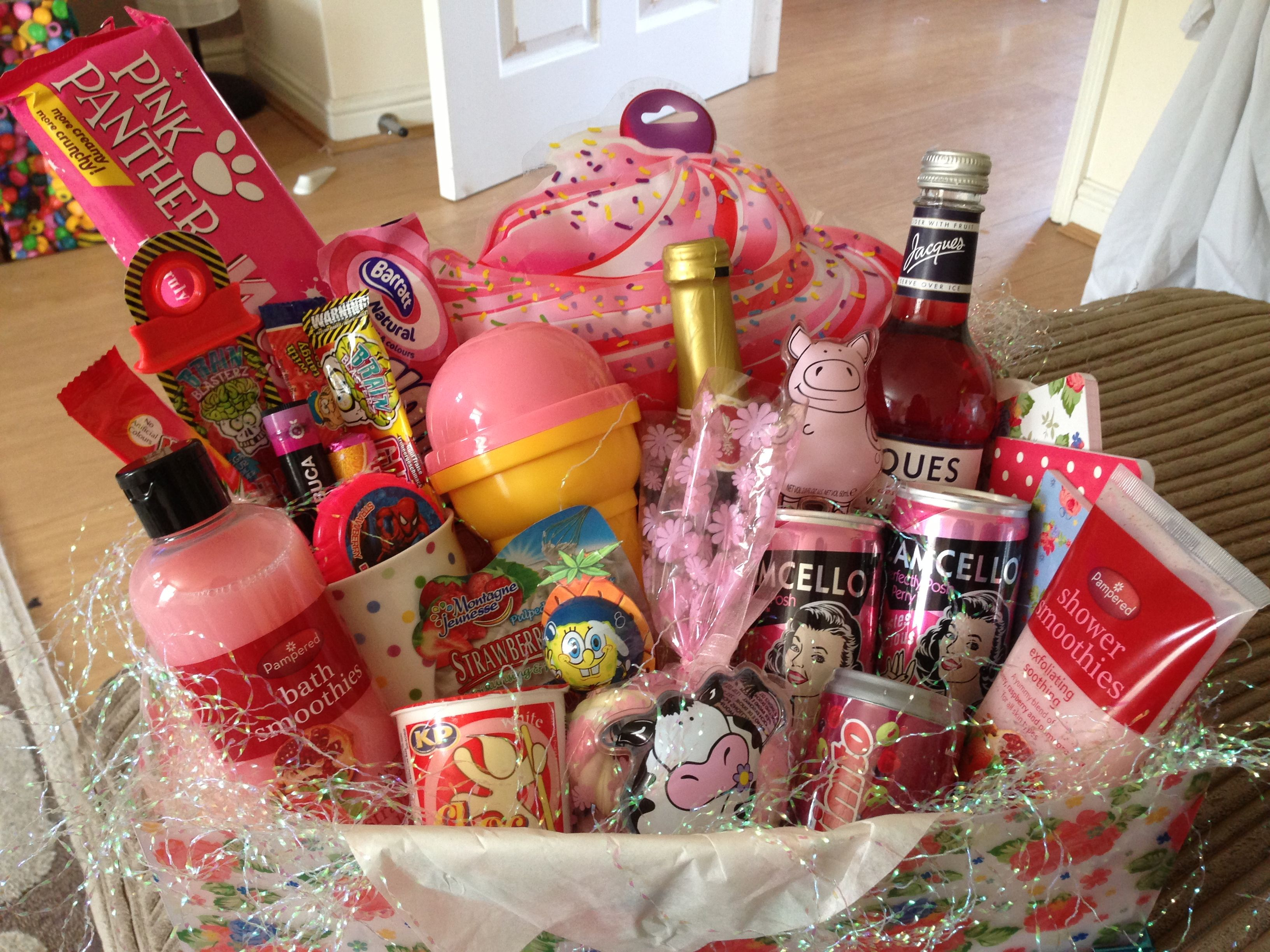 Girly hamper for girls night in! Given to a good friend ...