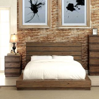 Pine Canopy Trillium 2 Piece Natural Tone Low Profile Bed And