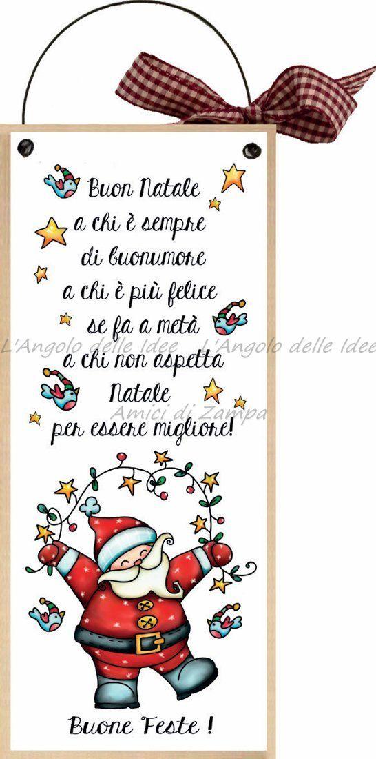 Buon Natale Spiritoso.Formelle Con Ferretto Cm 10x24 Buone Feste Buon Natale A Chi E Sempre Di Buon Umore Idea Regalo Targa Porta Con Scrit Natale Buon Natale Giochi Di Natale