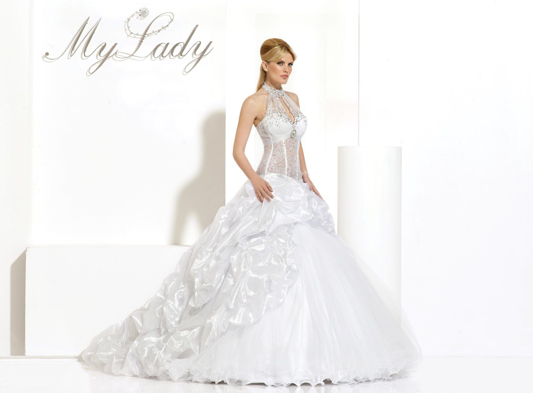 Shruthi In A Dreamy One Shoulder Pronovias Dress: BRIDAL DRESS BY MY LADY LADY DEKEL