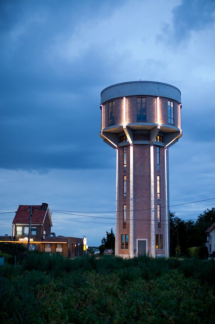 Old Water Tower Converted into a Beautiful Modern Home Water - hem küchen backnang