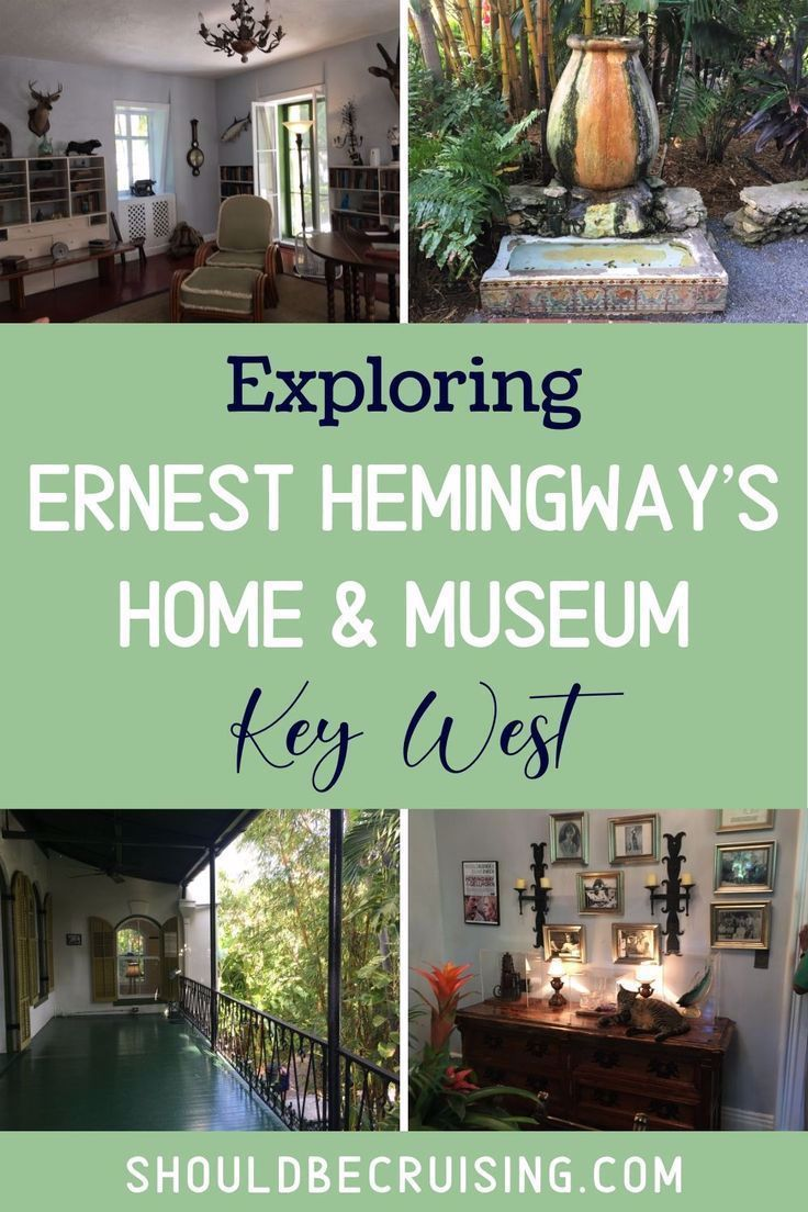 Exploring the Hemingway House in Key West -  A visit to Key West, Florida isn't complete without touring Ernest Hemingway's house. The write - #AdventureTravel #CultureTravel #exploring #hemingway #house #key #NightlifeTravel #TravelPhotography #West