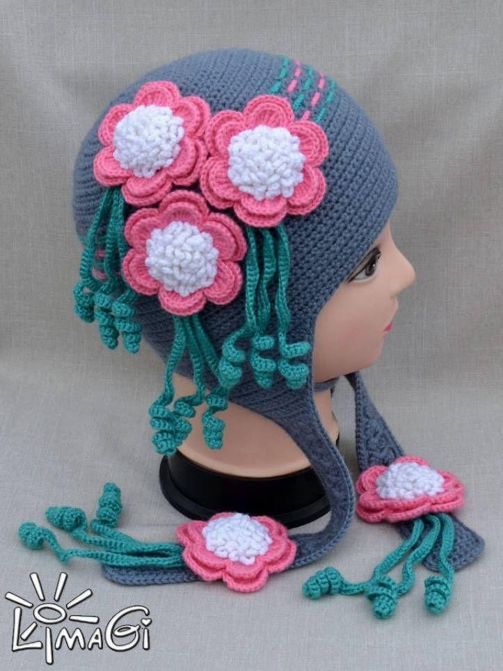 patrones que hacen punto el sombrero | Pijama para niñas en invierno ...