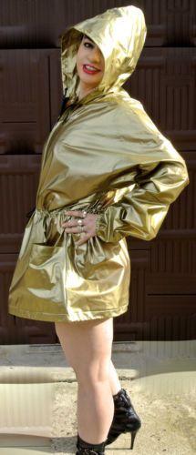 Vintage Betmar Size Large Gold Vinyl Raincoat Jacket Zip Front Hooded Seller Information Justinsublime 3180 About Justinsublime 100 Positive Feedb Regenmode