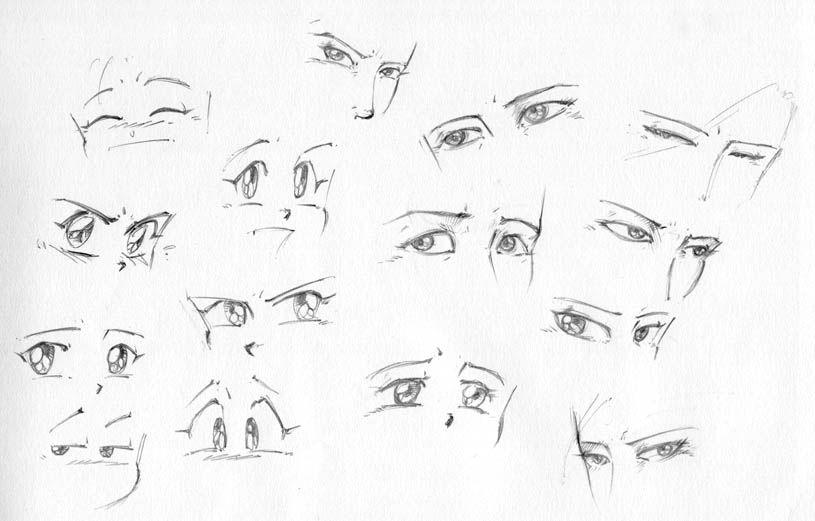 Comment Dessiner Un Homme Manga Yeux Manga Comment