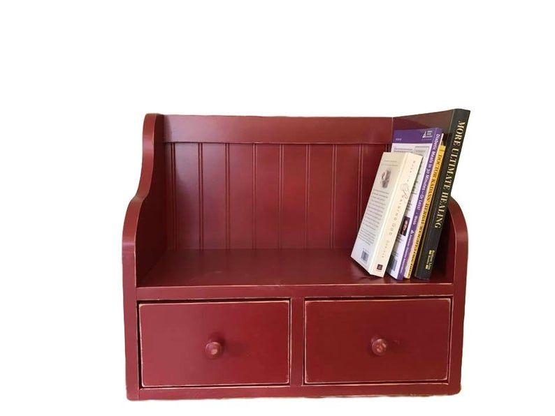 Recipe Card Holder Box And Cookbook Bookshelf Counter Top Etsy Recipe Card Holders Kitchen Cabinet Storage Card Box Holder