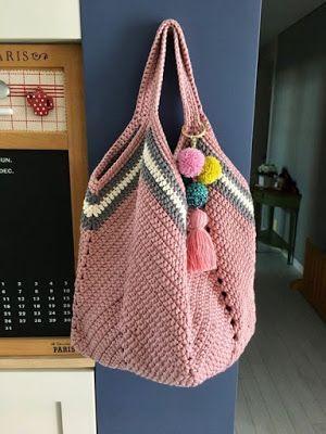 Bolsa en crochet casual (Patrón) #crochethandbags