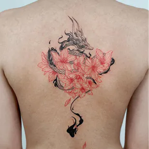 Cherry Blossom Tattoos The Legend Of Sakura Dragon Tattoo For Women Sleeve Tattoos For Women Back Tattoo Women