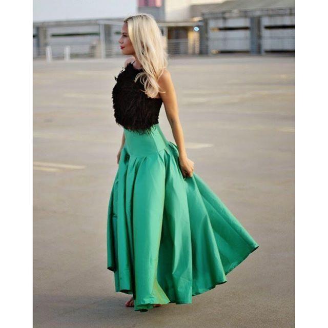 Liketoknow It Green Maxi Skirt Wedding Guest Outfit Fall Black Tie Dress
