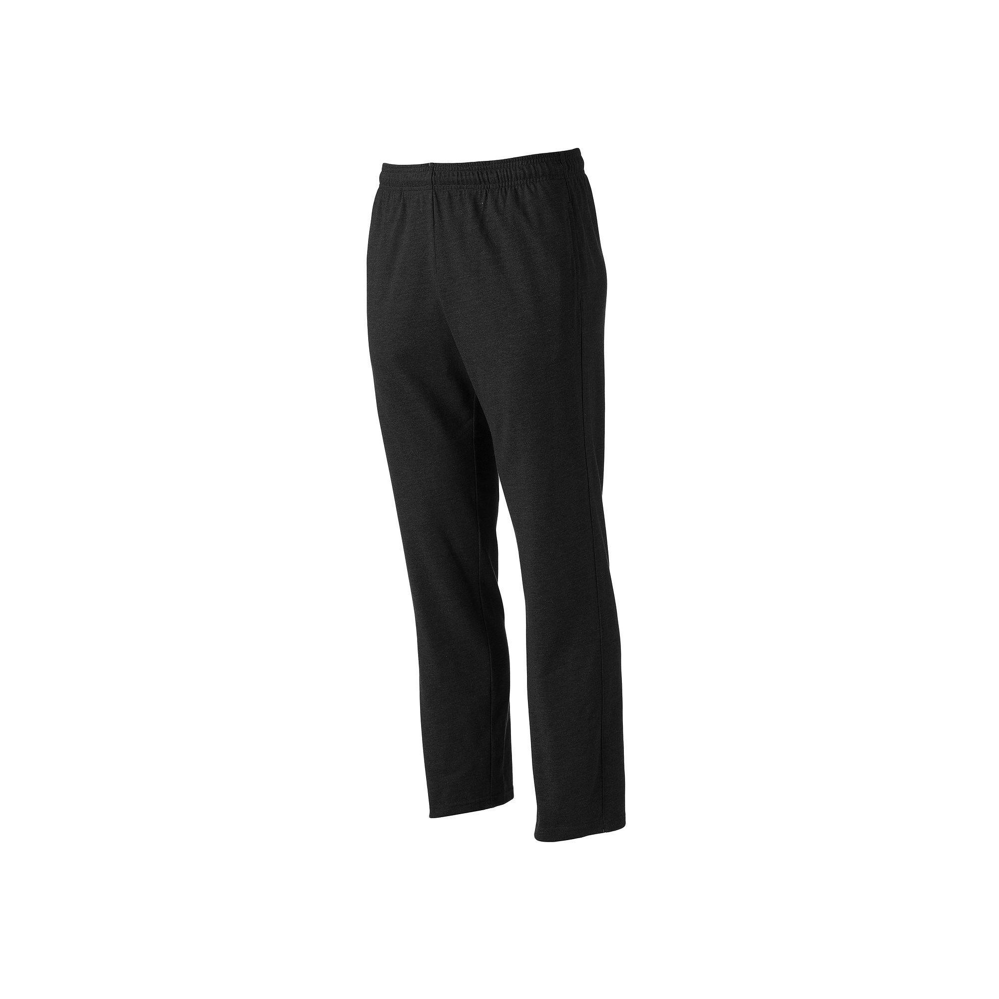 Men's Tek Gear® Basic Jersey Pants, Size: Medium, Black