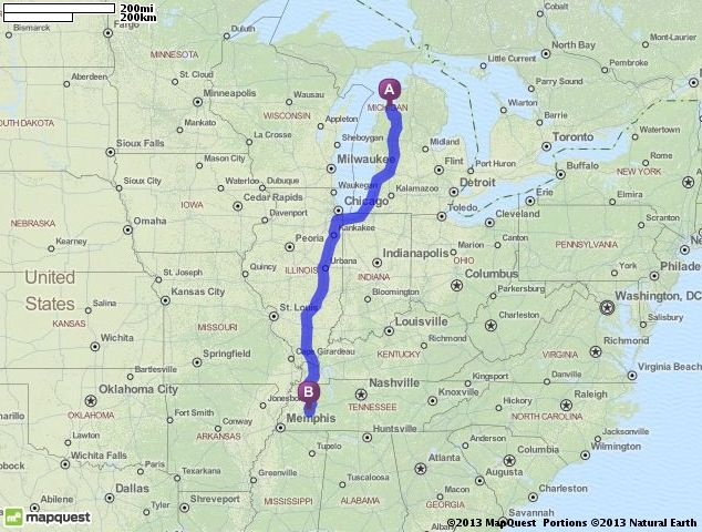 Driving Directions from Traverse City, Michigan to Jackson, Tennessee |  MapQuest