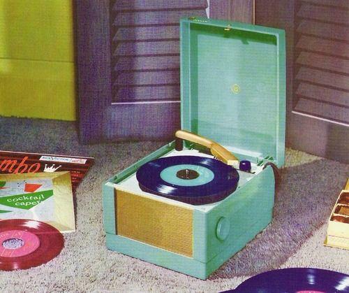 Magnavox portable record player, 1954.
