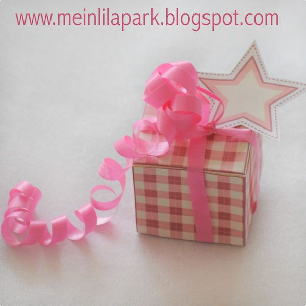 MeinLilaPark – DIY printables and downloads: Free printable gingham box - ausdruckbare Geschenk...