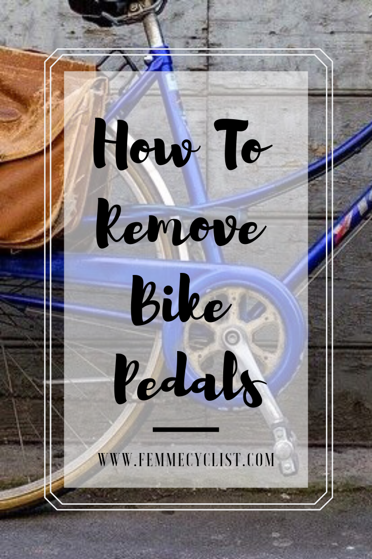 How To Remove Bike Pedals With Images Bike Pedals Bike Repair