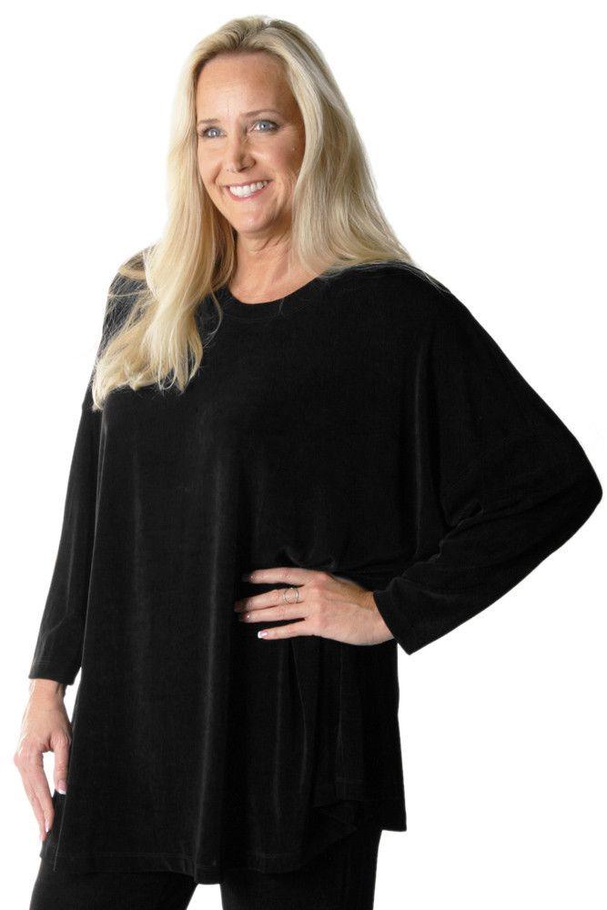 4e9690ff592 Vikki Vi Classic Black Swing Top plus size workwear