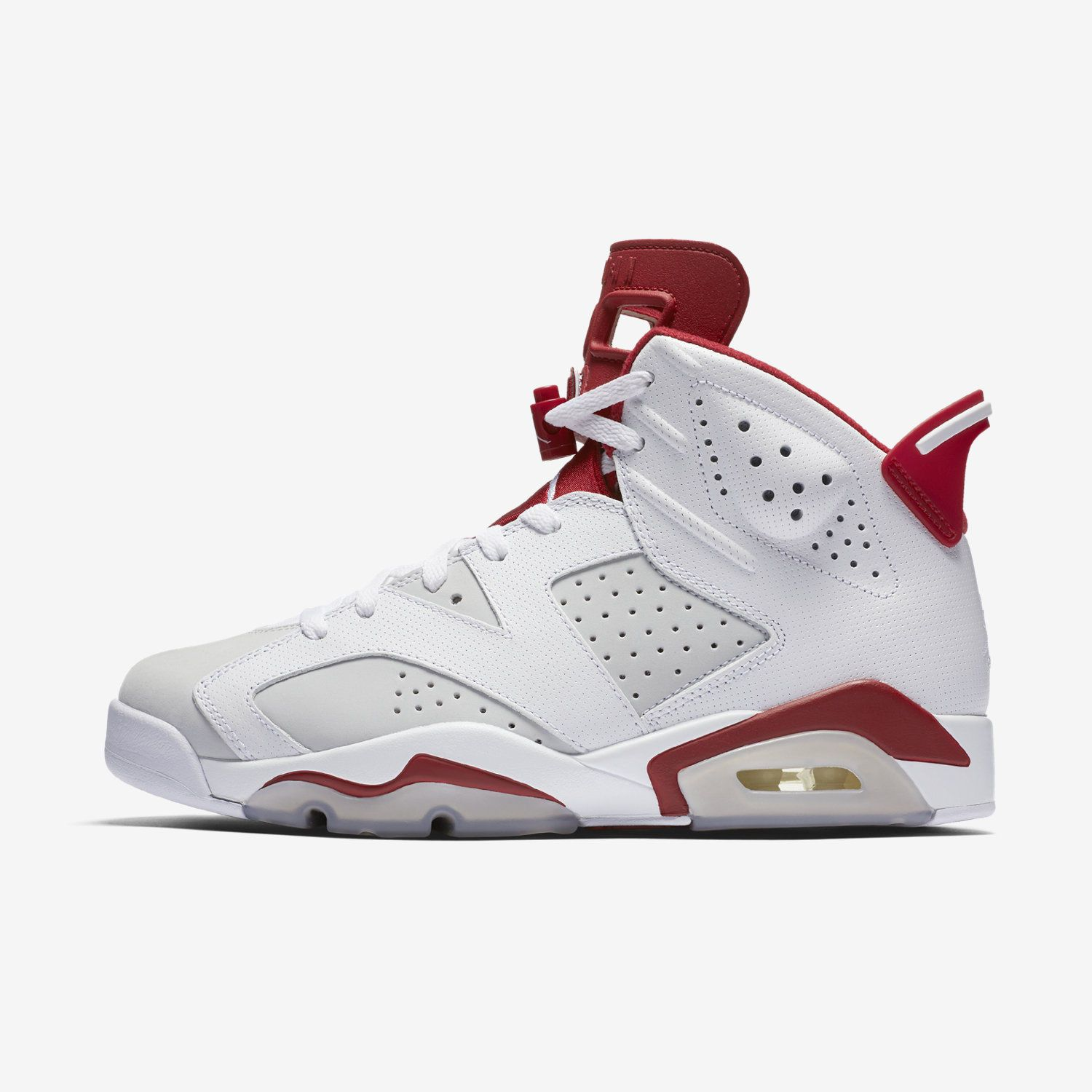 411a1b32986a Nike Air Jordan 6 Retro [384664-113] Basketball Alternate Hare 1991  White/Red