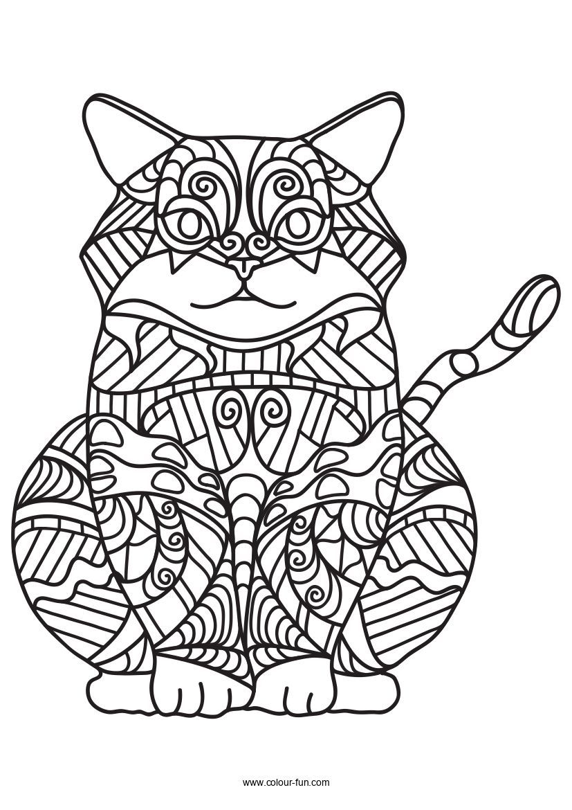 Free Pdf Downloads With A Single Click Click On The Image To Go To The Download Page Zentanglecats Cats Kitten Cat Coloring Page Coloring Pages Cat Colors [ 1170 x 827 Pixel ]