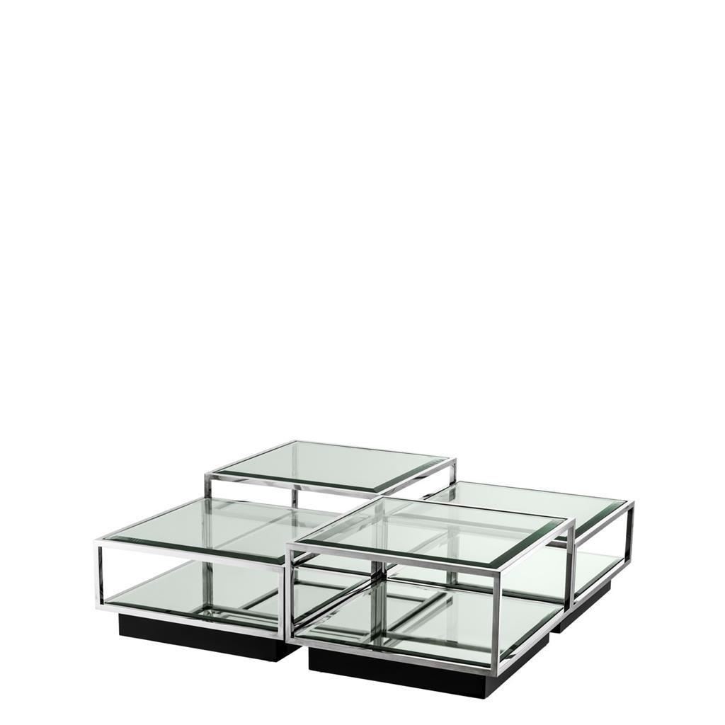 Eichholtz Couchtisch Tortona Stainless 4 Piece Coffee Table Set Coffee Table Square Coffee Table Setting [ 1024 x 1024 Pixel ]