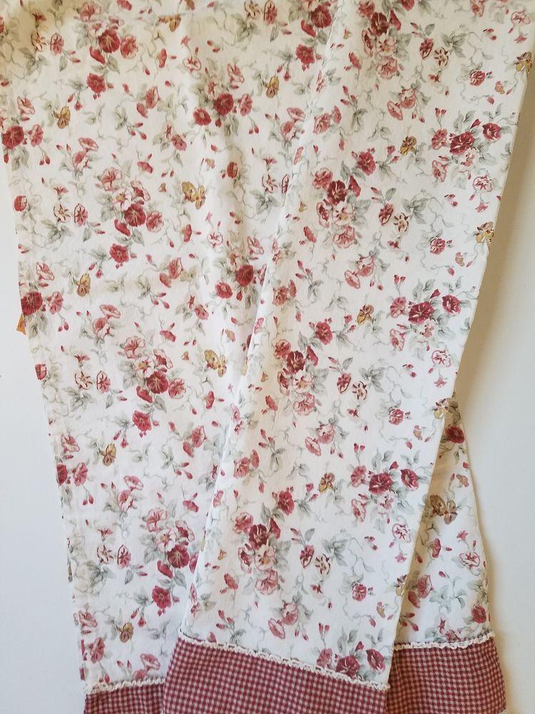 Waverly Garden Room 2 Curtain Tiers Cafe Fairhaven Morning Glory Cream Red Waverly Garden Room Waverly Fairhaven