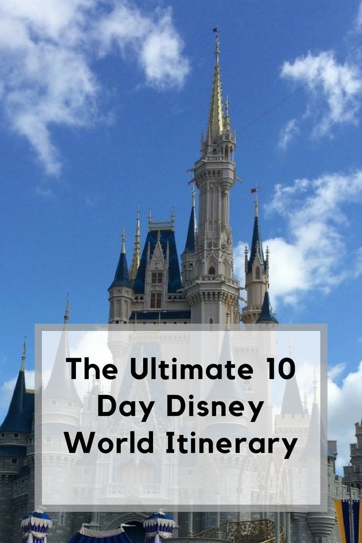 The Ultimate 10 Day Disney World Itinerary | Disney ...
