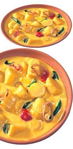 potato curry with maggi coconut milk powder