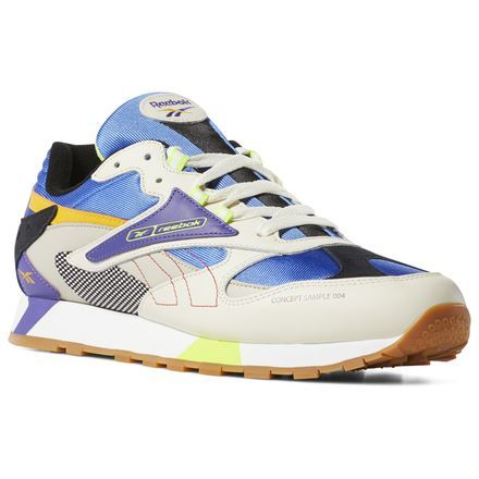 brand new 548b5 aa098 Reebok Shoes Unisex Classic Leather ATI 90s in Cream Sand Cobalt Size M 13    W 14.5 - Retro Running Shoes