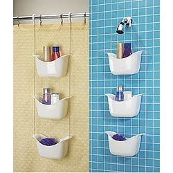 Hanging Basket Shower Caddy - Hangs from Shower Head or Curtain Rod ...
