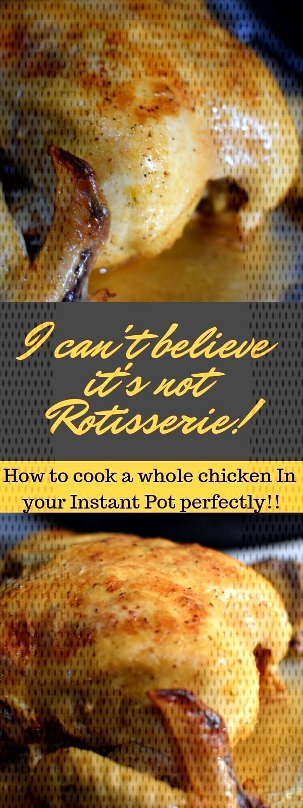 The best Instant Pot whole chicken recipe that is easy and quick to make. Also, Pressure cooker chi