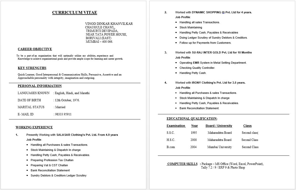 Accounting Clerk Resume | Resume / Job | Pinterest