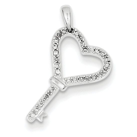 14k white gold aa diamond heart key pendant xp1931aa key pendant 14k white gold aa diamond heart key pendant xp1931aa mozeypictures Images