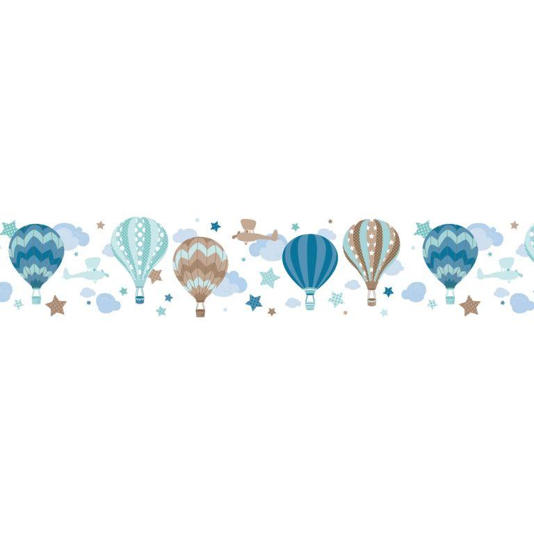 Dinki Balloon Kinder Bordure Heissluftballons Mint Taupe Selbstklebend Bei Fantasyroom Online Kaufen Heissluftballon Kinder Zimmer Kinder