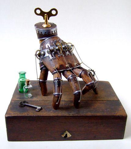 doktor a 39 s steampunk sculpture art steampunk steampunk gadgets et art. Black Bedroom Furniture Sets. Home Design Ideas