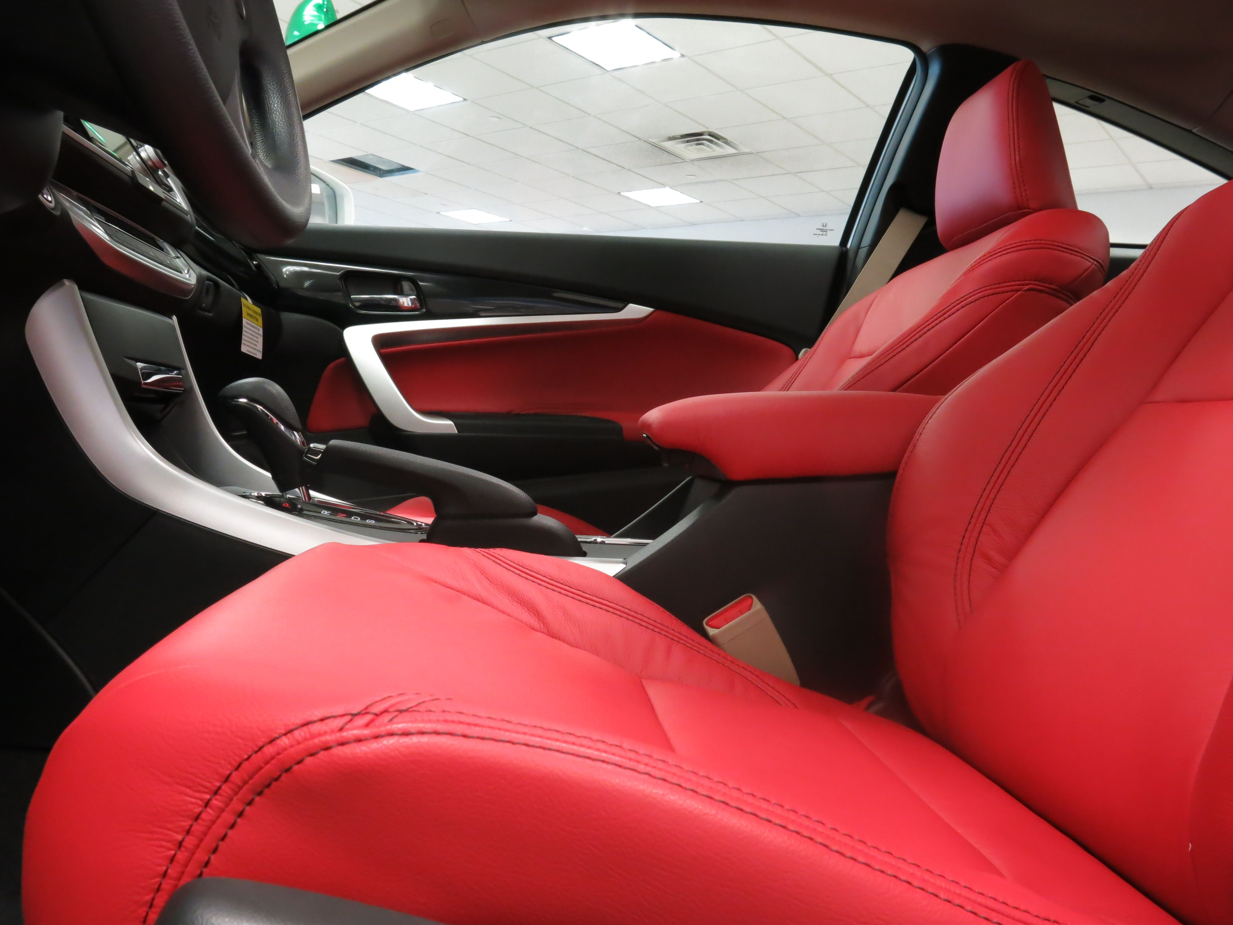 Winter White Meets Red Hot Fury The Custom Leather Seats We Installed On This 2015 Honda Accord