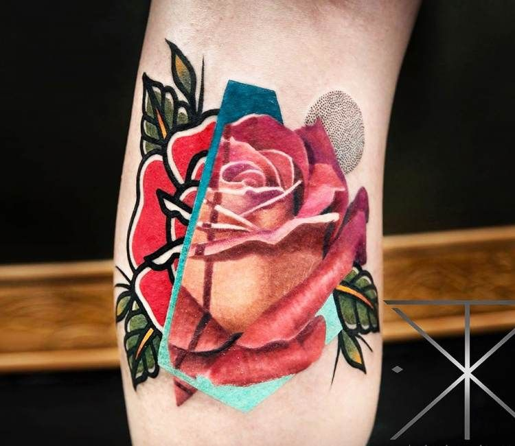 Red Rose tattoo by Chris Rigoni | Post 21342
