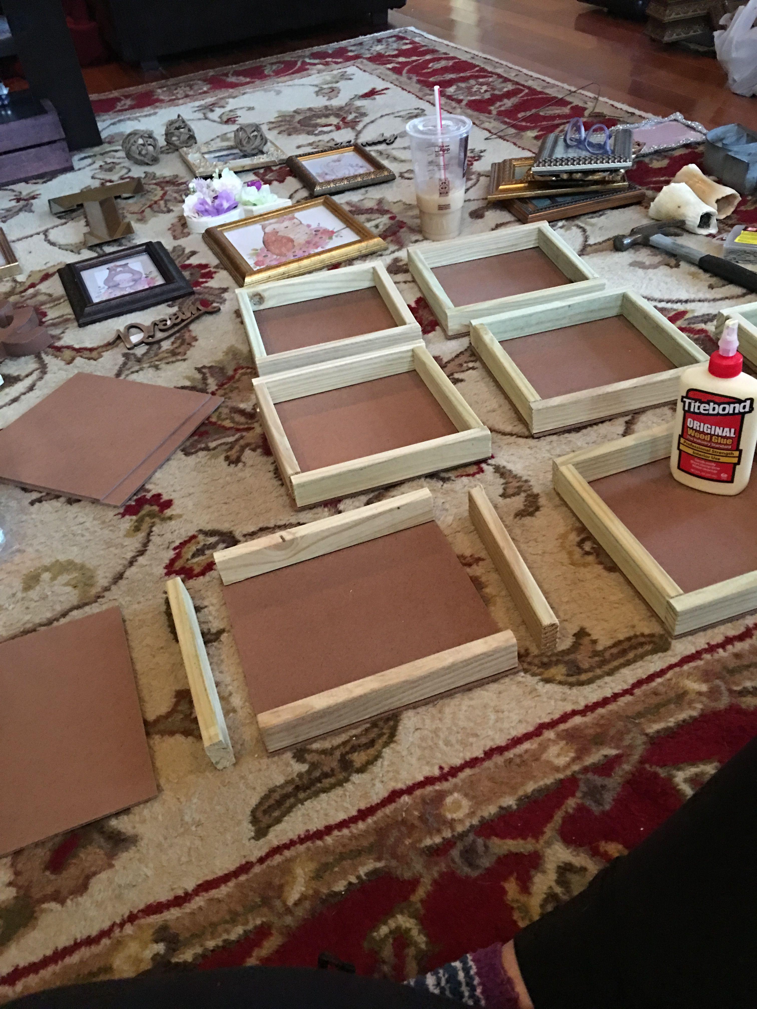 Diy 9x9 shadow boxes easy 1 1x2 boards qty 3 2