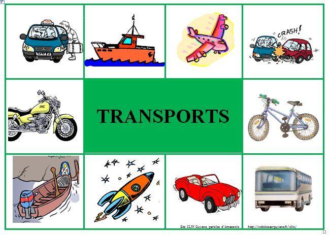 loto les transports   moyens de transport   Pinterest