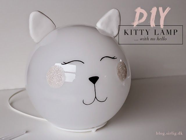 Ikea Kinderzimmerlampe ~ Diy kitty lamp fado ikea hack sirlig ikea lamp kitty and