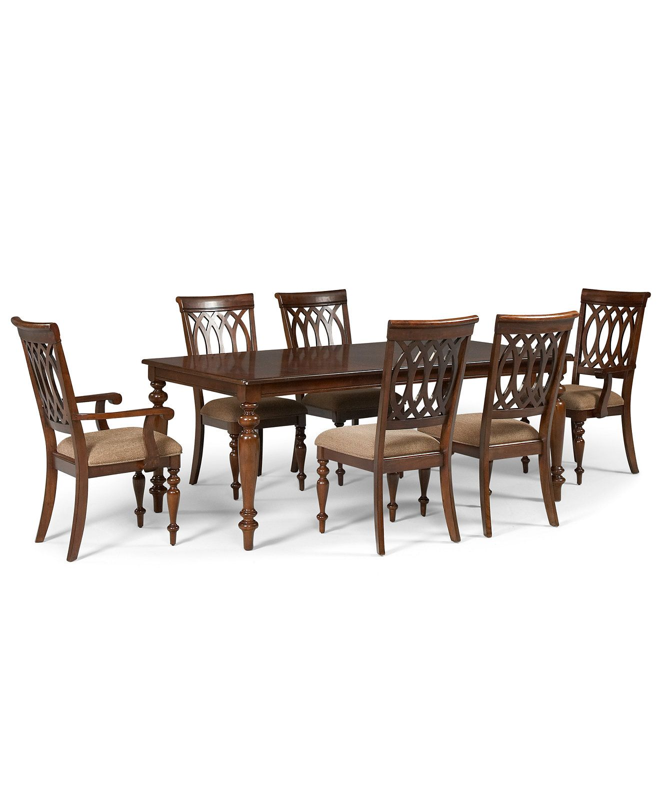 Crestwood Dining Room Furniture 7 Piece Set Dining Table 4 Side Entrancing Macys Dining Room Chairs Design Inspiration