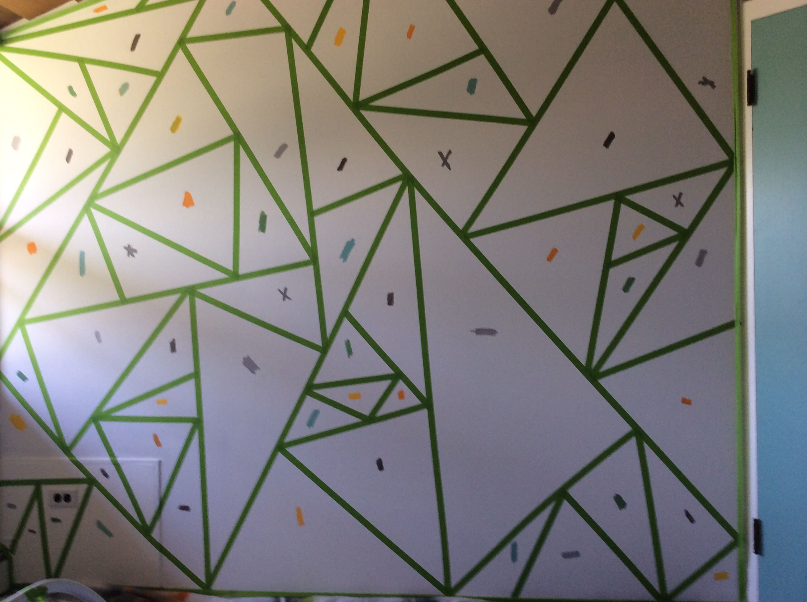 Tagged Colors Before Painting Begins Wall Paint Designs Wall Painting Wall Paint Patterns