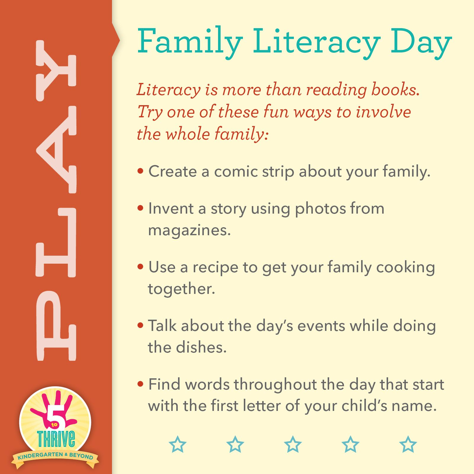 November Is National Family Literacy Month Here Are Some Ways To