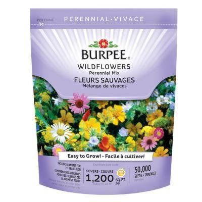 Bur Wildflower Bag Perennial Mix Seed 13220 The Home Depot