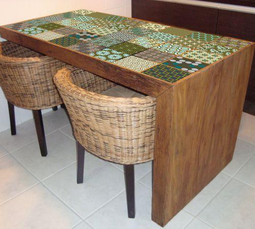 Adesivo decorativo - Azulejos - Até na mesa...