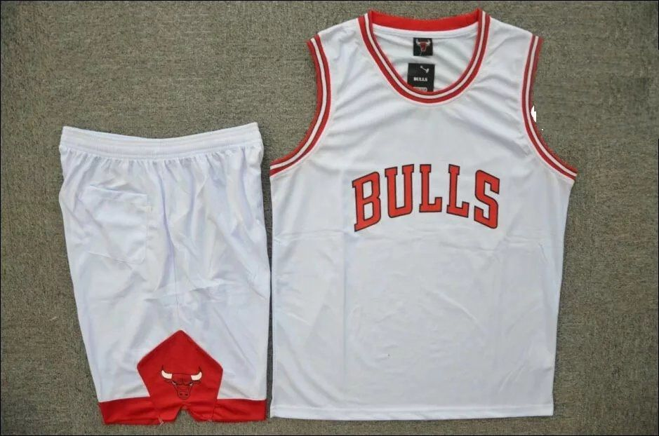 3e0d7c6a2b15 Men s Chicago Bulls White Home Jersey Uniforms Adult Cheap Basketball Sets  Make Your Own Name or Number