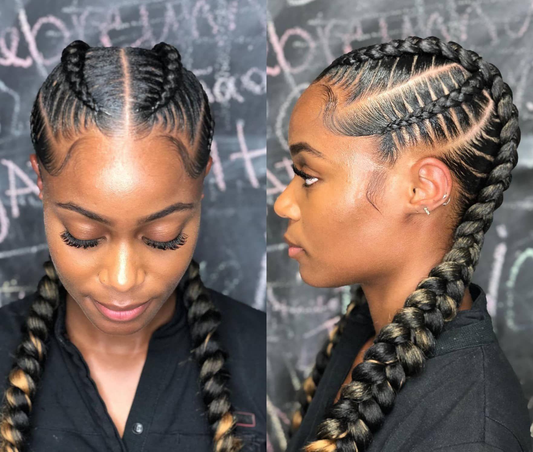 25 Must Have Goddess In 2020 Goddess Braids Hairstyles Feed In Braids Hairstyles Two Braid Hairstyles
