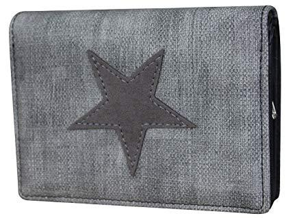 Damen Stern Geldbörse Geldbeutel Brieftasche Portemonnaie Damenbörse Damenbörse